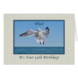 第59笑うカモメの鳥が付いているバースデー・カード カード