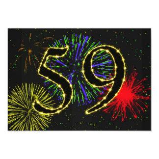 第59誕生会のinvitate カード