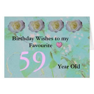 第59誕生日 カード