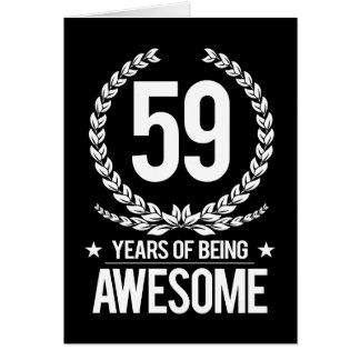 第59誕生日(素晴らしい59あ年間の) カード