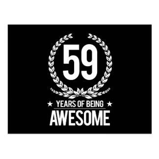 第59誕生日(素晴らしい59あ年間の) ポストカード