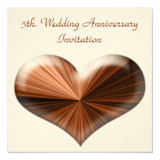 第5。 結婚記念日の招待状 カード