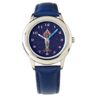 第6次元のロケットの船のステンレス鋼の腕時計 腕時計