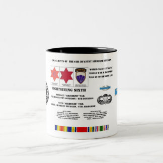 第6歩兵または空挺師団の婚約 ツートーンマグカップ