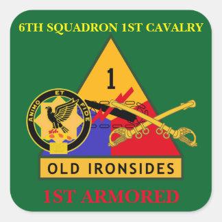 第6艦隊の第1騎兵隊の第1装甲ステッカー スクエアシール