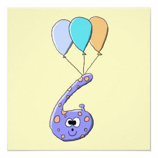 第6誕生日、紫色の誕生日モンスターの漫画 カード