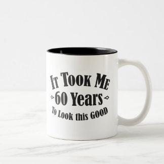 第60私によいこれを見るために60の60年かかりました ツートーンマグカップ