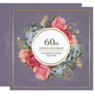 第60結婚記念日のパーティの招待状 カード