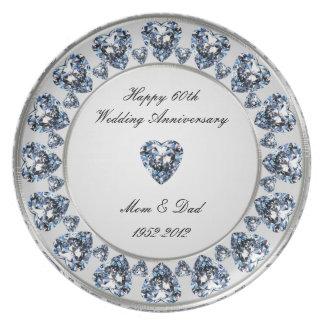 第60結婚記念日のメラミンプレート 皿