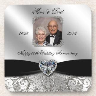 第60結婚記念日の写真のコースター コースター