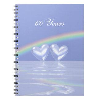 第60記念日のダイヤモンドのハート ノートブック