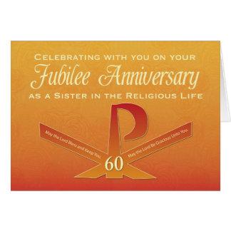 第60記念祭記念日の尼僧PAXの十字、オレンジ カード