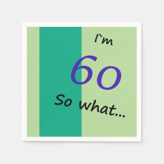 第60誕生日おもしろいなIの` m 60そう何 スタンダードカクテルナプキン