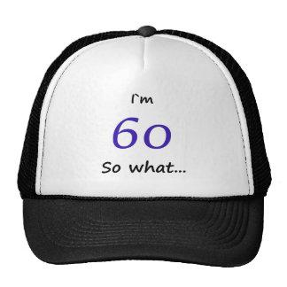 第60誕生日おもしろいなIの` m 60そう何 メッシュ帽子
