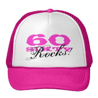 第60誕生日の帽子| 60個の石! メッシュ帽子