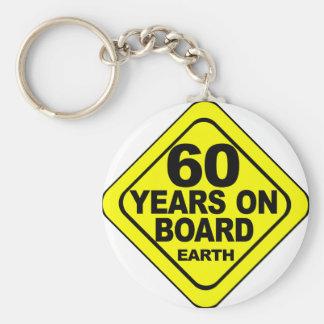 第60誕生日 ベーシック丸型缶キーホルダー