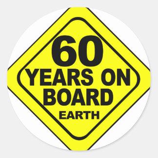 第60誕生日 丸形シールステッカー