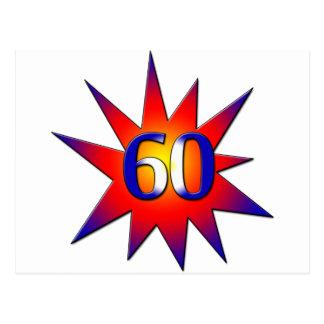 第60誕生日 葉書き