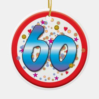 第60誕生日 陶器製丸型オーナメント