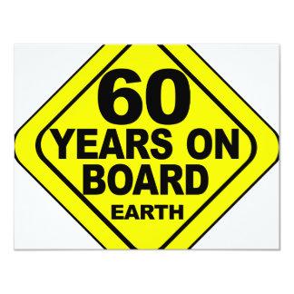 第60誕生日 10.8 X 14 インビテーションカード