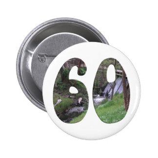 第60誕生日 5.7CM 丸型バッジ