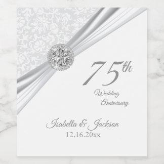 第60/第75ダイヤモンドの結婚記念日 ワインラベル