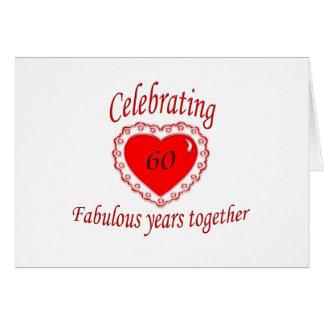 第60。 記念日 カード