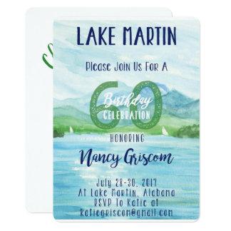第60 birthday湖の週末 カード