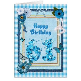 第61スクラップブックの効果の誕生日 カード