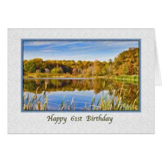 第61湖の反射のバースデー・カード カード