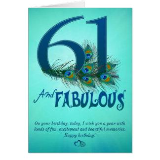 第61誕生日のテンプレートカード カード
