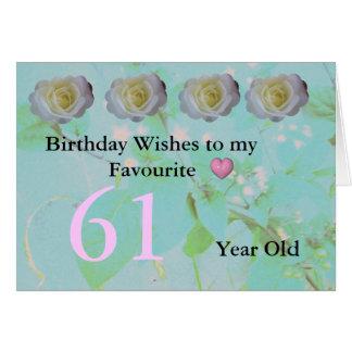 第61誕生日 カード