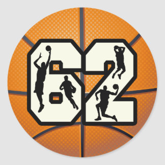 第62バスケットボール ラウンドシール