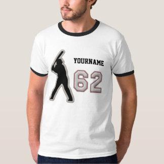 第62打者のユニフォーム-クールな野球のステッチ Tシャツ
