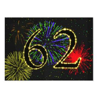 第62誕生会のinvitate カード