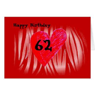 第62誕生日 カード