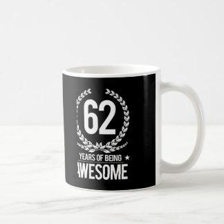 第62誕生日(素晴らしい62あ年間の) コーヒーマグカップ