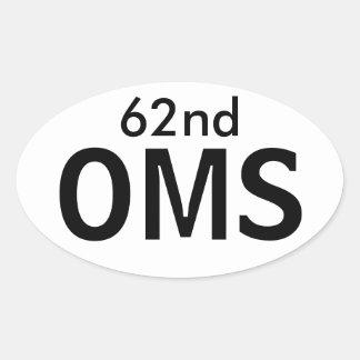 第62 OMSのステッカー 楕円形シール