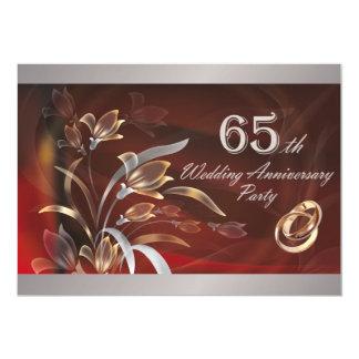第65結婚記念日のパーティの招待状 12.7 X 17.8 インビテーションカード