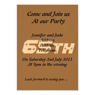 第65誕生日のパーティの招待状 カード