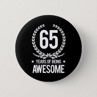 第65誕生日(素晴らしい65あ年間の) 5.7CM 丸型バッジ