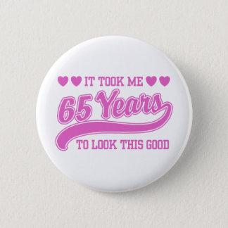 第65誕生日 5.7CM 丸型バッジ