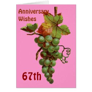 第67カスタマイズ可能な記念日の願い カード