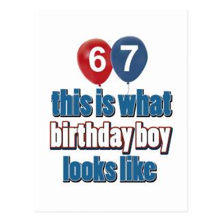 第67歳の誕生日のデザイン ポストカード