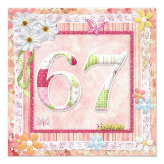 第67誕生会のスクラップブック作りのスタイル カード