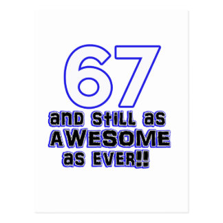 第67誕生日のデザイン ポストカード
