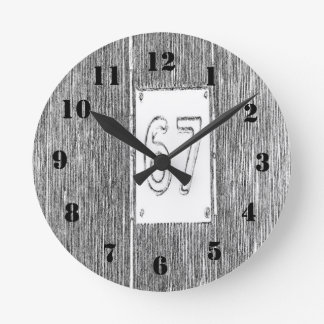 第67 ラウンド壁時計