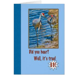 第69 Sandhillクレーンが付いているバースデー・カード カード