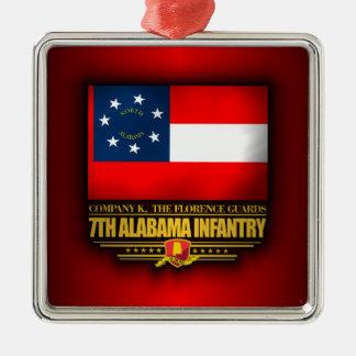 第7アラバマの歩兵 メタルオーナメント