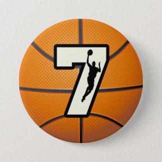 第7バスケットボールおよびプレーヤー 7.6CM 丸型バッジ